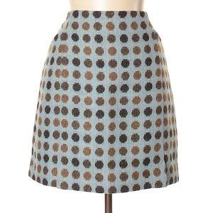 Boden tweed wool blue dot skirt size 8
